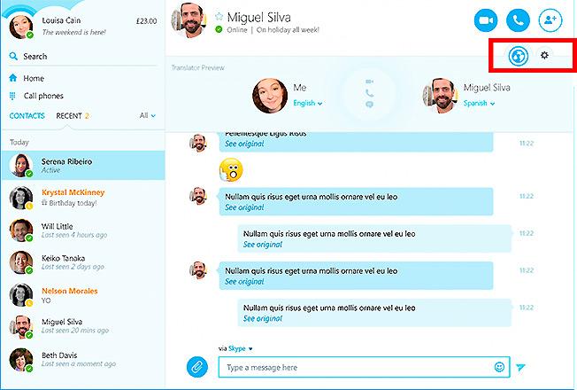 Skype Translator использует технологии распознавания речи