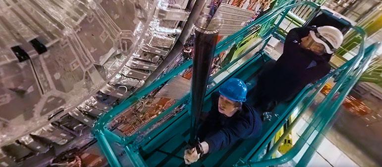 Панорамное видео Большого Адронного Коллайдера