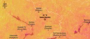 Интерактивная карта погоды в режиме реального времени