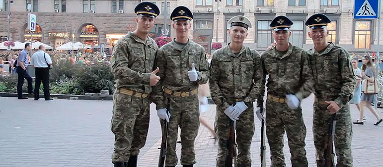 В Киеве прошла репетиция военного парада ко Дню Независимости 2017