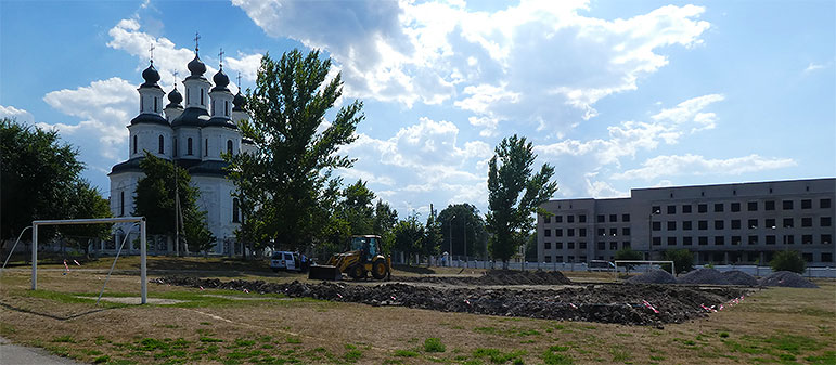 В центре Изюма появится новая спортивная площадка