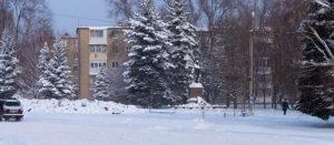 Снегопад в Изюме