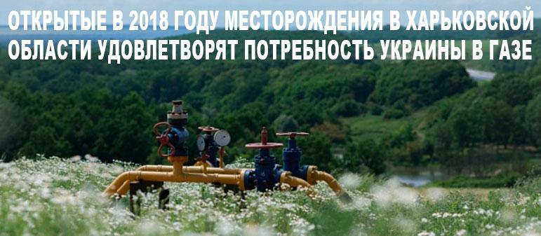 Открытые в 2018 году месторождения в Харьковской области удовлетворят потребность Украины в газе