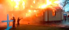 В Люботине сгорел Свято-Николаевский храм [видео]