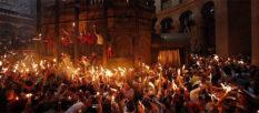 В Иерусалиме сошел Благодатный огонь [видео]