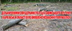 Участковыми офицерами полиции Изюмского ОП ГУНП в Харьковской области было выявлено незаконную вырубку леса